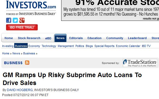 General Motors, the United States, and Predatory Lending