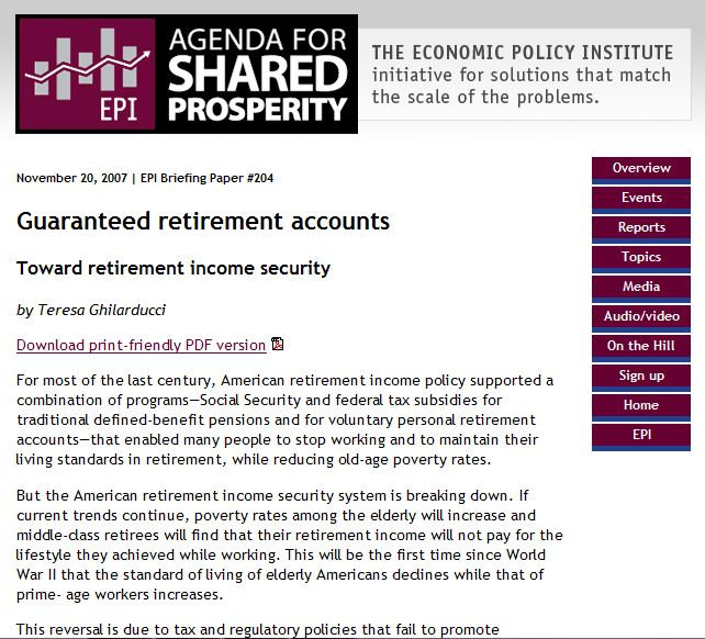 term papers retirement accounts Working papers all making maximum use of tax-deferred retirement accounts health/long-term care financing retirement older workers.